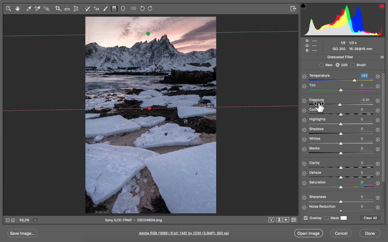 Benjamin Jaworskyj Post process landscape photos Adobe Photoshop Video Course Camera Raw