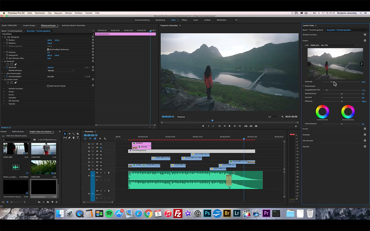 Learn Video Editing Video Course Benjamin Jaworskyj